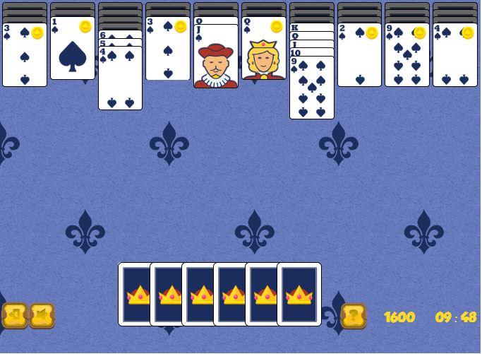 Rangez l'ensemble des cartes dans ce jeu de solitaire royal