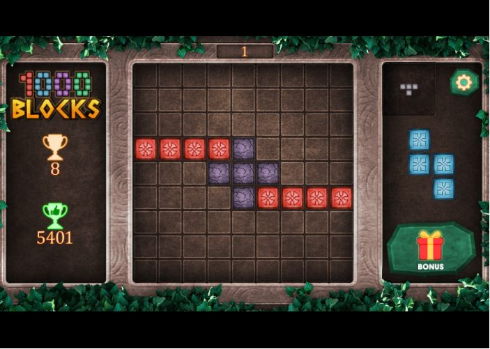 Niveau de jeu 1000 Blocks