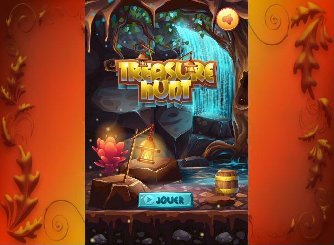 Page d'accueil jeu série de 3 Treasure Hunt