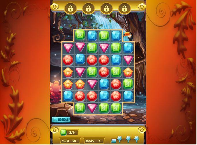 Niveau 1 Treasure Hunt jeu smartphone