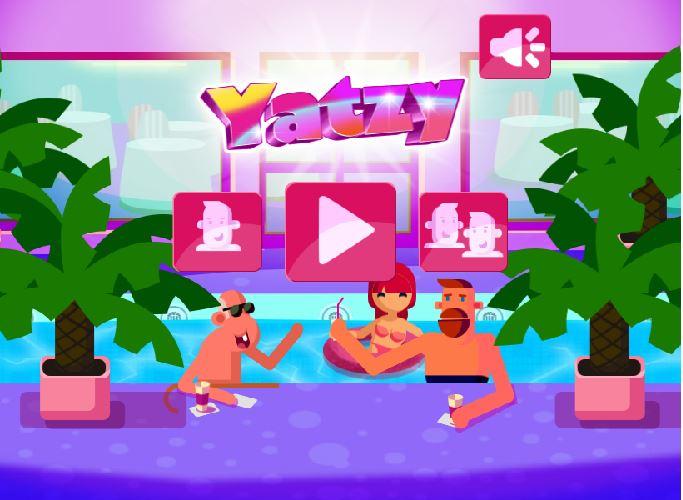 Page d'accueil jeu en ligne Yatzy