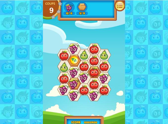 Niveau de jeu Fruita Swipe