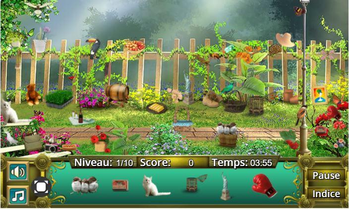 Niveau d'éléments à trouver sur Garden Secrets