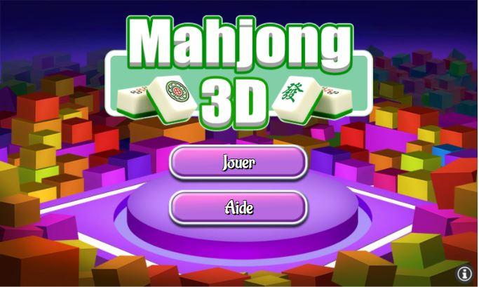 Accueil jeu gratuit Mahjong 3D