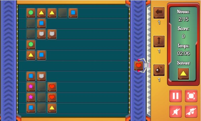 Niveau du jeu mobile Chocolate Factory