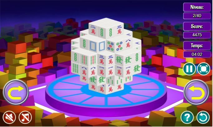 Jeu gratuit de réflexion Mahjong 3D
