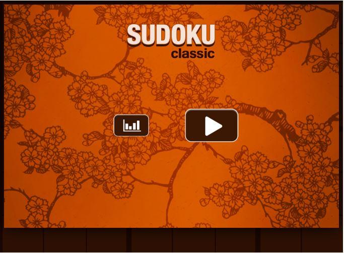 Accueil jeu mobile Sudoku
