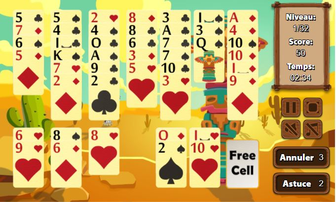 Jeu de Freecell gratuit